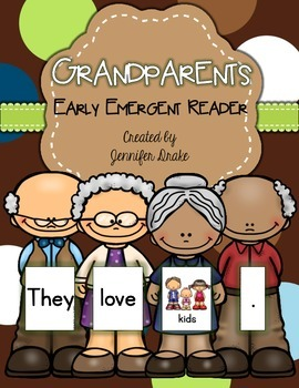 Grandparents Early Emergent Reader Pack!  Book PLUS Word & Picture Cards
