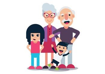 Grandparents & Grandchildren - White Background