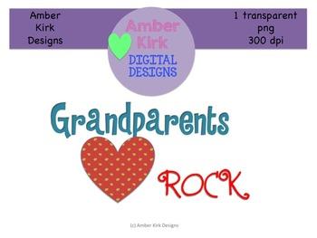 Grandparents ROCK Clipart Freebie!