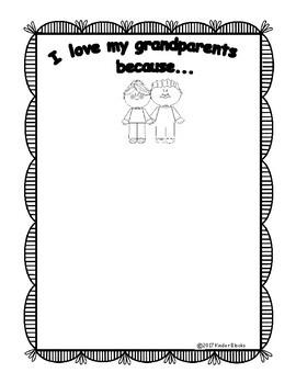 Grandparents Writing Prompts for Pre-K, Kindergarten or First Grade