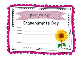 Grandparents and Special Friends Day Invitation