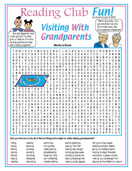 Grandparents are Great Grandparents Day Two-Page Activity Set