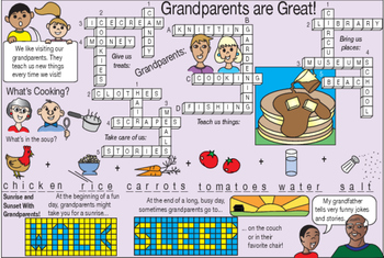 Bundle: Grandparents are Great Grandparents Day Two-Page Activity Set