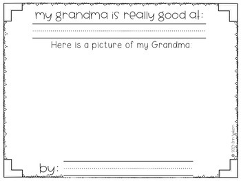 Grandparents are Special {writing prompts celebrating Grandparents}