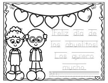 Grandparents day- SPANISH and ENGLISH