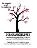 Grandparents day craft art gift tree fingerprints handprints