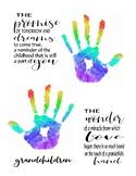 Grandparents day handprint art poem craft gift holiday