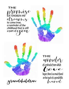 Grandparents day handprint art poem craft gift holiday