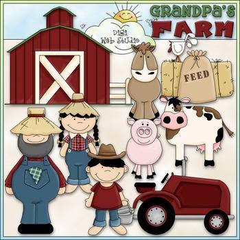 Grandpa's Farm Clip Art - Farm Animals Clip Art - CU Clip