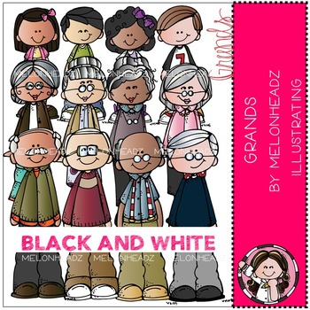 Grands clip art - BLACK AND WHITE- by Melonheadz