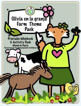 Granja Farm Minibook & Activity Pack Spanish Printable Minibook