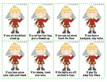 Granny Says! {Following Directions Freebie}