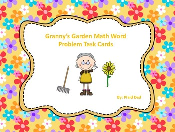Granny's Garden Math Word Problem Task Cards