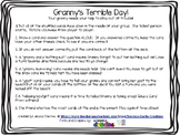 Granny's Terrible Day- Fact Fluency Game (6-9's facts- sum