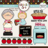 Granny's Apple Pie 1-  Digi Clip Art/Digital Stamps - CU Clip Art
