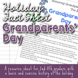 Holiday Fact Sheet - Grandparents' Day