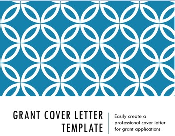 Grant Cover Letter Template