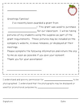 Grant Photo Consent Form {FREEBIE}