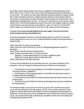 Grant Proposal STEAM Institute/Club