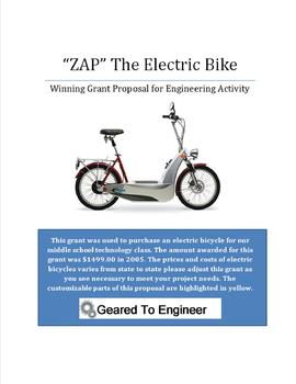 Grant: Winning Proposal for Electric Bicycle Engineering Project