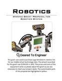 Grant: Winning Proposal for LEGO Mindstorm Robotics Kits