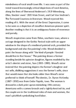 Grant Wood Handout