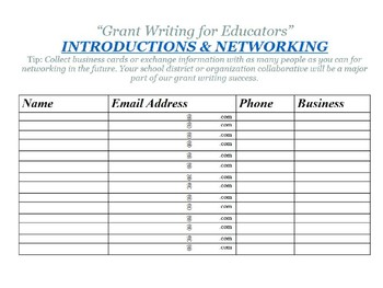 Grant Writing For Educators Finally Made Easy Workbook