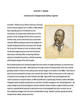 Granville T. Woods: Inventor and Transportation Safety Engineer