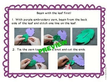 Grape Felt Mini Lesson FREEBIE