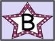 Grape Purple Dot Star Alphabet Letter Posters