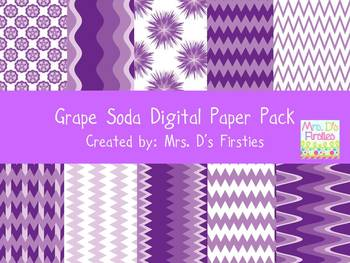 Grape Soda Digital Paper Pack