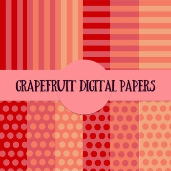 Grapefruit Backgrounds Digital Papers