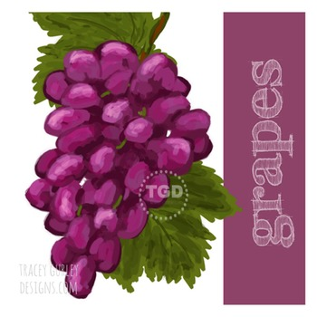 Grapes Clip Art - Grapes graphic, Grapes Printable Tracey Gurley Designs