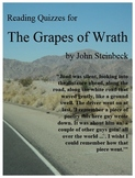 Grapes of Wrath Eight Reading Quizzes, 10 Pages, with Answer Keys