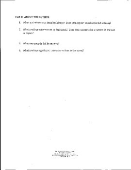 Grapes of Wrath Study Guide  - Close Reading Focus CC Aligned
