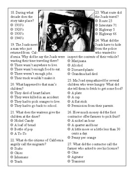 Grapes of Wrath Test