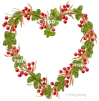 Grapevine Heart Wreath Printable Tracey Gurley Designs