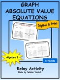 Graph Absolute Value Equations Relay Activity