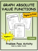 Graph Absolute Value Functions Problem Pass Activity