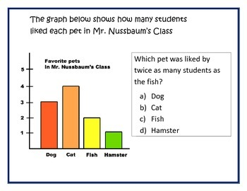Graph, Data, and Probability Stations/Questions