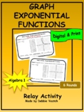 Graph Exponential Functions Relay Activity