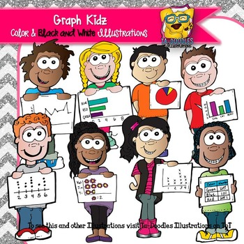 Children with Graphs Commercial Use Clipart