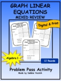 Graph Linear Equations Mixed Review Problem Pass Activity