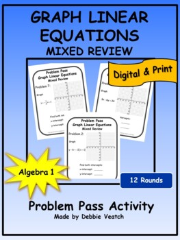 Graph Linear Equations Problem Pass Activity