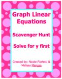 Graph Linear Equations Scavenger Hunt