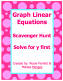 Graph Linear Equations Scavenger Hunt