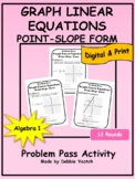 Graph Linear Equations - Point-Slope Problem Pass | Digital - Distance Learning