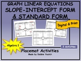Graph Linear Equations in Slope-Intercept & Standard Forms   Distance Learning