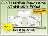 Graph Linear Equations in Standard Form Sum It Up   Digital - Distance Learning