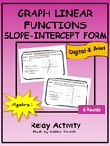 Graph Linear Functions- Slope-Intercept Form Relay   Digital - Distance Learning